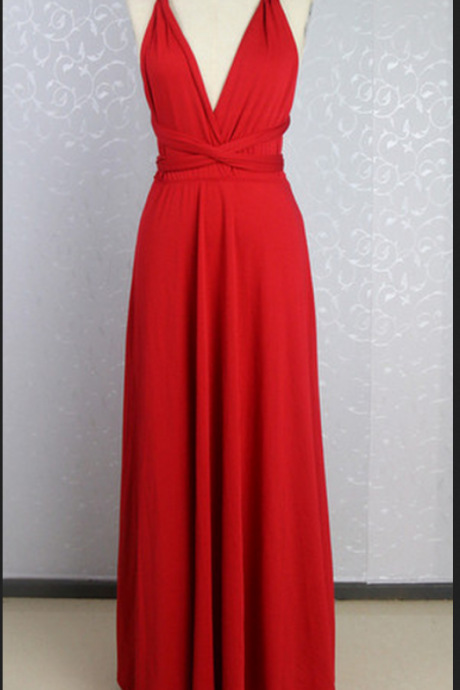 Prom Dresses,Evening Dress,Party Dresses,Red Prom Dresses,Chiffon Evening Dress,Chiffon Prom
