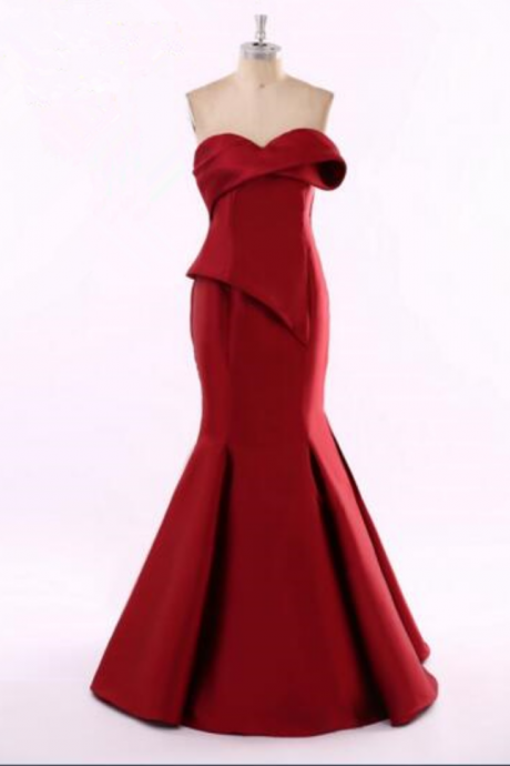 Red Bra female fashion prom dresses sexy cocktail dress mopping the floor evening dress