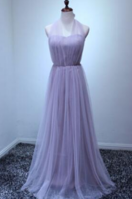 Long Tulle Bridesmaid Formal Gown Ball Party Cocktail Prom Convertible Dress Fashionable party dress evening dress