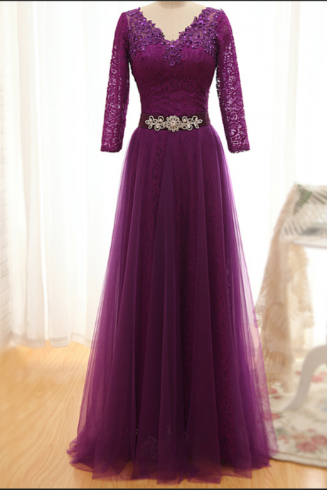 Prom Dress, Appliques Sexy Prom Dress,Long Sleeve Prom Dress,Appliques Evening Dress,Long Evening Gowns,High Quality Graduation Dresses,Wedding Guest Prom Gowns, Formal Occasion Dresses,Formal Dress