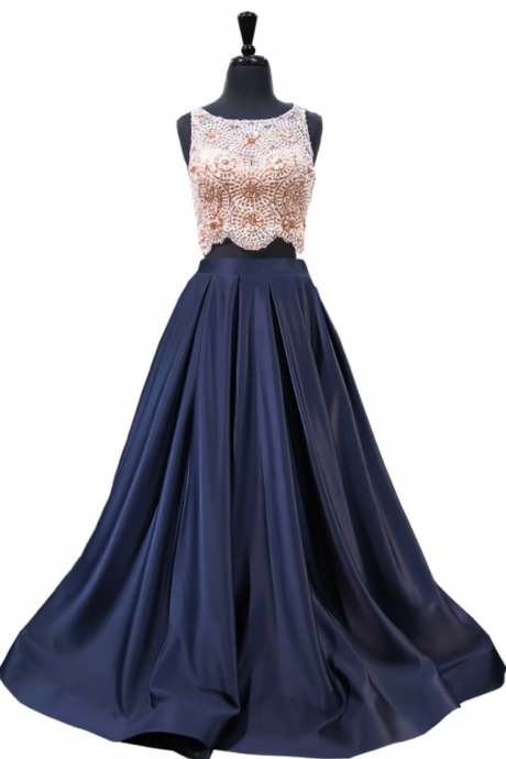Long Prom Dresses, Two Pieces Prom Dresses, Beading Party Prom Dresses, Satin Prom Dresses, Popular Prom Dresses,Prom Dresses Online