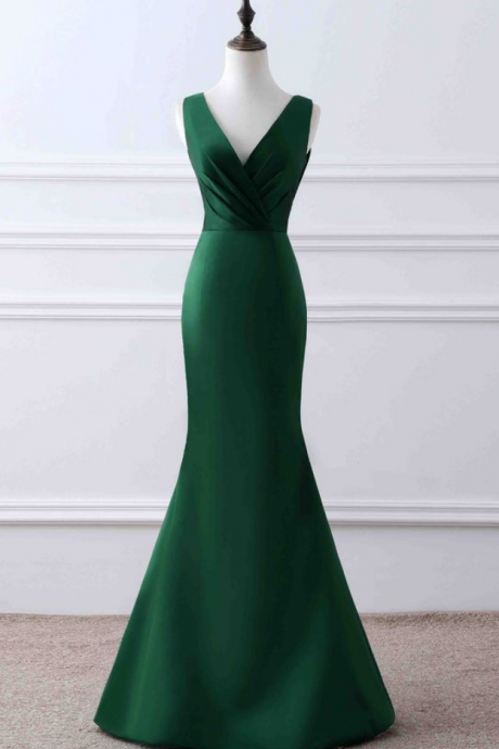 Charming Prom Dress,Long Prom Dress,Mermaid Prom Dress,Simple Formal Evening Dresses
