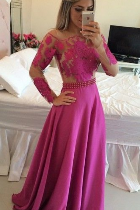Long Sleeve Evening Dress,Sexy Prom Dress,Long Prom Dresses,Formal Evening Dress,Women Dresses