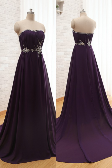 Fashion Evening Dress,Long Evening Dresses,A Line Chiffon Prom Dress,Sexy Backless Prom Dresses,Women Dress