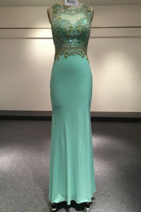 Real Photo Tulle Jersey Chiffon See Through Back Beading Handwork Evening Dresses prom dresses