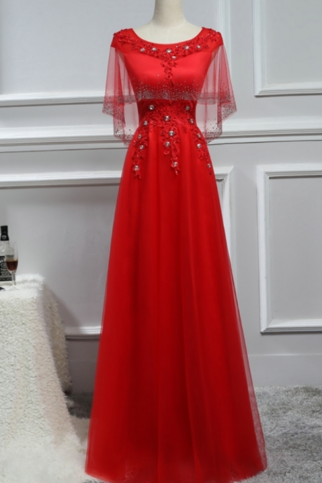 The exquisite red dress and the married mother's intermittent night party dress crystal wedding party mother and blouse