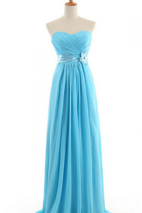 New Arrival A-Line Sweetheart Floor-length Chiffon Bridesmaid Dresses