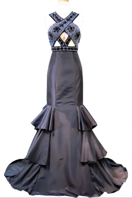 Long black satin evening dress new to black formal interval evening gown