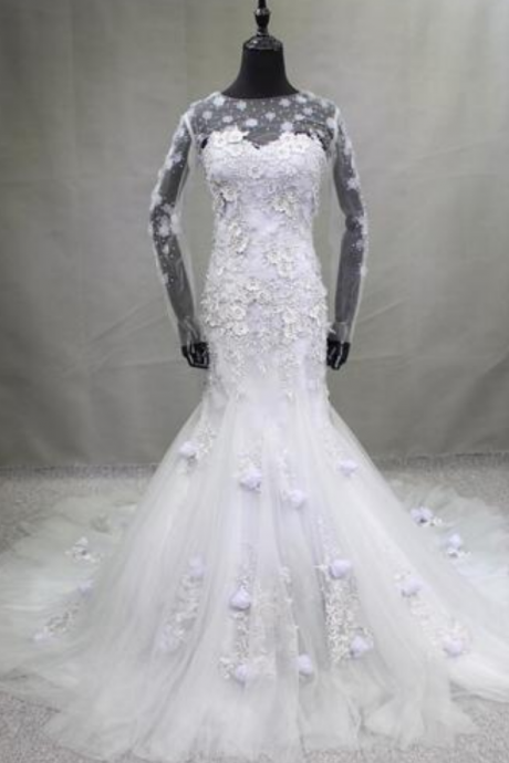Real Photo New Removable Jacket Mermaid Wedding Dress Sexy Illusion Sweetheart Chapel Train de Novia