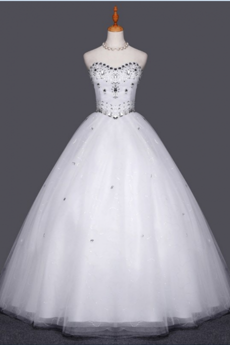 High Quality Luxury Crystal Wedding Dress Wedding Ball Gowns