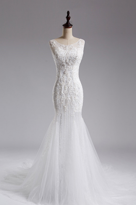 Real Sample Luxury Angelababy Beading Mermaid Wedding Dress New Fashion Wedding dresses Bridal gown