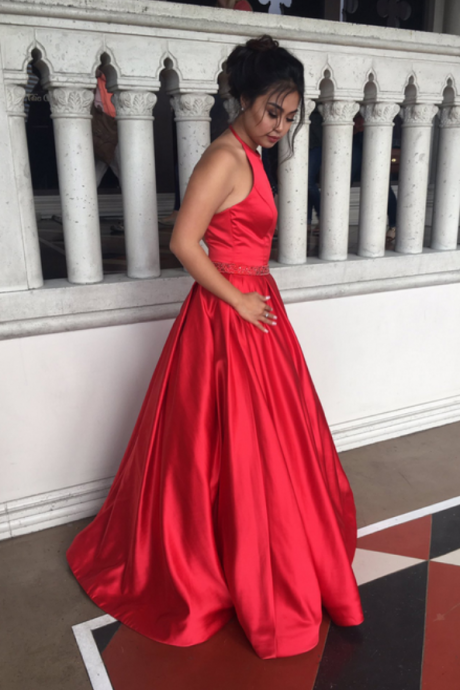 Halter Prom Dresses,Long Prom Dresses,A-line Prom Dress,Cheap Prom Dress,Prom Dresses,Prom Dresses For Teens,Evening Dresses,Party Dresses,