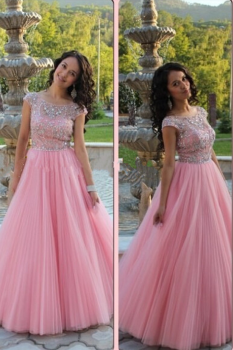 Prom Dresses,Real Photo Prom Dresses,Cap Sleeve Prom Dresses,Beaded Prom Dresses,Sequined Prom Dresses,Luxury Prom Dresses