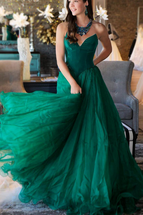 Sexy Prom Dress, Dark Green Prom Dress, A Line Prom Dress, Prom Dresses , Vestido De Festa, Tulle Prom Dress, Floor Length Prom Dress, Elegant Prom Dress, Women Formal Dress