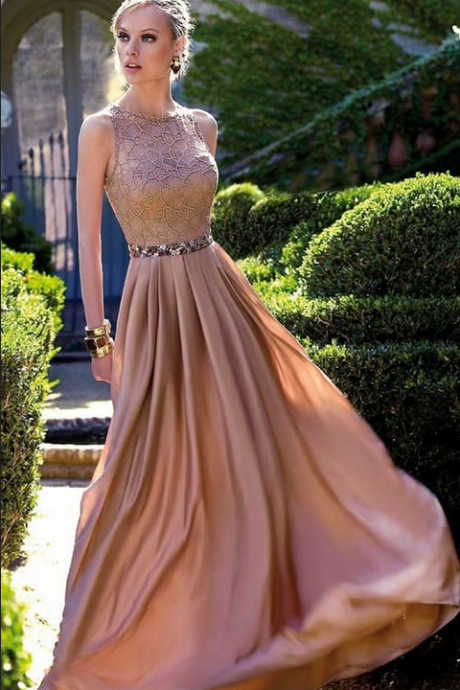 Sequin Prom Dresses, Coral A-line/Princess Evening Dresses, Long Coral Prom Dresses, prom dresses short A-line Scoop Floor-length Chiffon Prom Dress