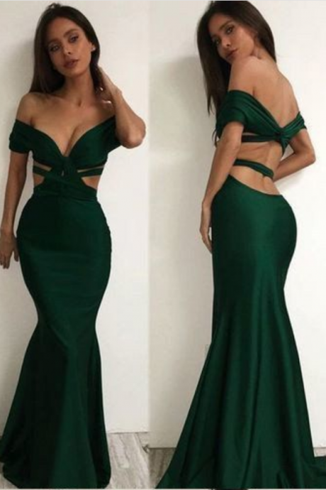 Charming Mermaid Evening Dress, Sexy Evening Dress, Formal Long Prom Dress