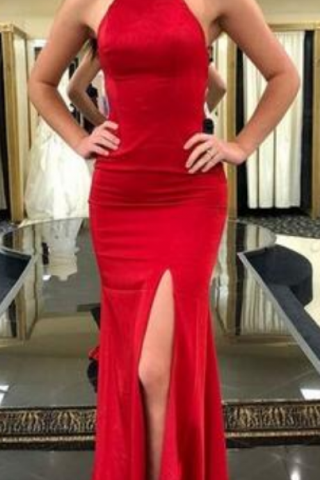 Simple Red Prom Dress,Sexy Prom Dress,Cheap Prom Dress,Long Mermaid Prom Dress, Sexy Evening Dress, Long Party Dress