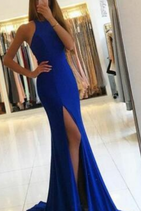 Long Prom Dresses,Simple Prom Dresses,Cheap Prom Dress,Sexy Evening Dress, Royal Blue Mermaid Prom Dresses