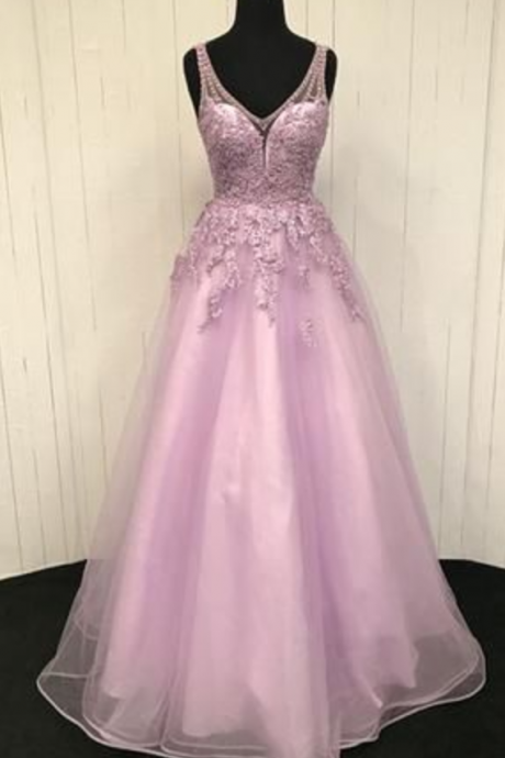 Elegant Appliques A-Line Prom Dress,Long Prom Dresses,Cheap Prom Dresses,Custom Made Evening Dress,Fashion Prom Dress,Sexy Party Dress, New Style Evening Dresses
