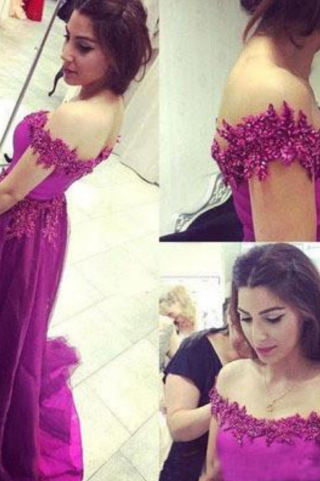 Off the Shoulder Real Made Charming Prom Dresses,Long Evening Dresses,Prom Dresses