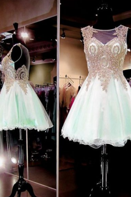 Homecoming Dresses,Lace Homecoming Dresses,Popular Homecoming Dresses,Ming Green Homecoming Dress,Cheap Homecoming Dress,Juniors Homecoming Dress