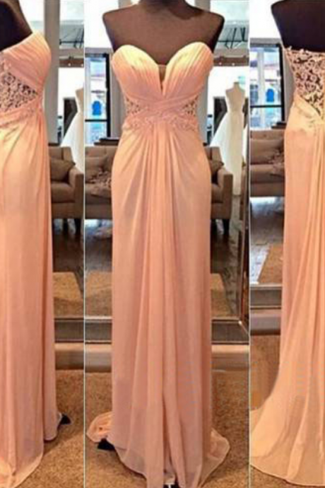 Sweetheart Prom Dresses,A-Line Prom Dress,Lace Prom Dress,Simple Prom Dress,Chiffon Prom Dress,Simple Evening Gowns,Cheap Party Dress,Elegant Prom Dresses,Formal Gowns For Teens