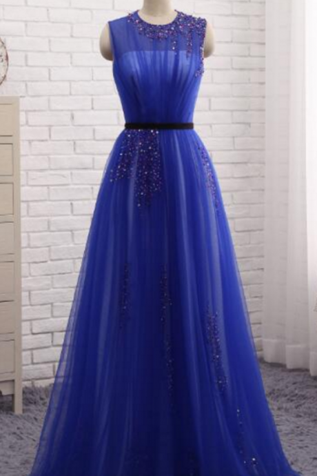 royal blue party dress, the gorgeous Turkish evening gown,Evening Dress