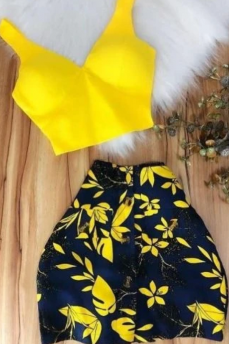 Homecoming Dresses yellow short party dress