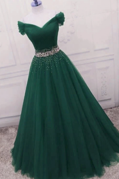 Fashionable Long Beade Formal Dress, Prom Dress