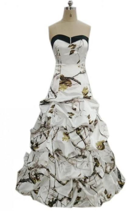 Camo Wedding Dresses,Bridal Dresses,Wedding Dress,2018 Wedding Dresses,Strapless Wedding Dress, Vintage Wedding Dresses,Wedding Gowns,Bridal Gown