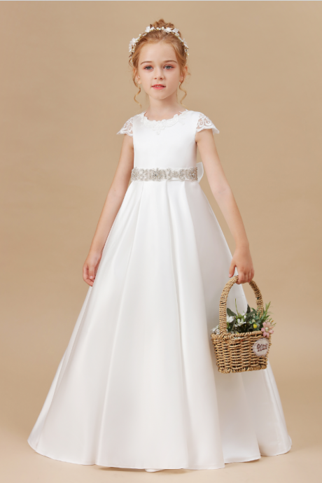 Flower girl dresses, Princess Dress Sleeveless Floor Dress Christmas Party Dress Girls Baby Dresses Wedding Birthday Party Children Clothing