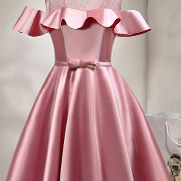 Pink Homecoming Dresses,Short Prom Dresses,Girls Cocktail Dress,Homecoming Dress,Graduation Dress