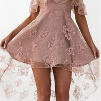 Dusty Pink Homecoming Dresses Ruffles Sheer Layer Short Prom Dresses
