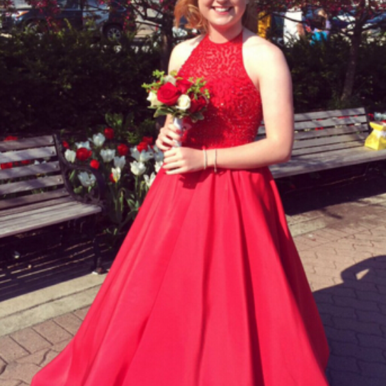 Red Prom Dress,Ball Gown Prom Dress,Beaded Bodice Prom Gown,Princess Prom Dresses,Sexy Evening Gowns, New Fashion Evening Gown,Red Party Dress For Teens