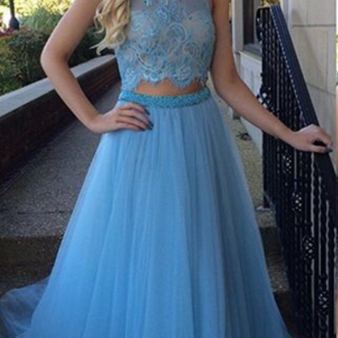 Long prom dress, blue prom dress, charming dress, pretty prom dress, elegant prom dress, popular prom dress, junior prom dress