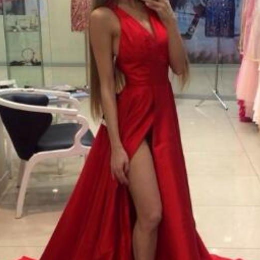 Simple Red Prom Dresses,Long Prom Dresses For Teens,Chiffon Prom Dress,Cheap Prom Dresses,Sexy Prom Dresses