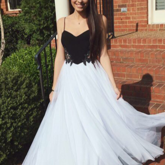 High Quality Prom Dress,Tulle Prom Dress,A-Line Prom Dress,Spaghetti Straps Prom Dress, Charming Evening Dress