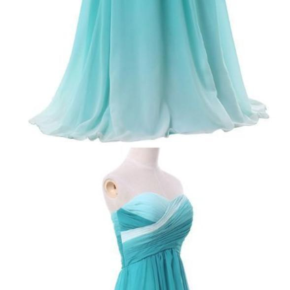 long gown, blue pink green chiffon gown, luxurious formal dress