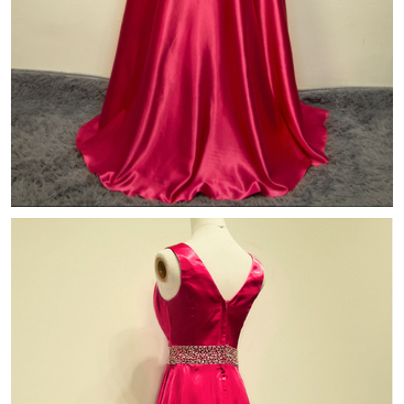 Elegant Handmade A-line Floor Length Rose Red Prom Dress with Sequins, Long Prom Dress, Prom Dresses , Evening Gown, Formal Dresses, Party Dress,Wedding Guest Prom Gowns, Formal Occasion Dresses,Formal Dress