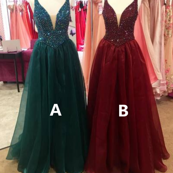 Charming Prom Dress, Elegant Tulle Prom Dresses, Long Evening Dress, Formal Dress