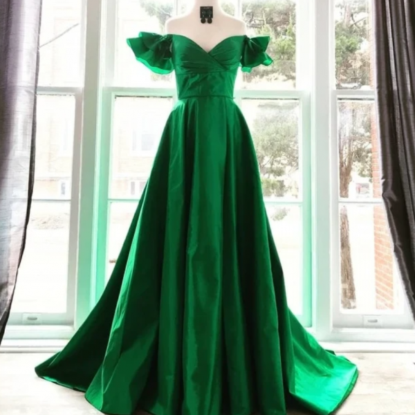 Elegant Off the Shoulder Sweetheart Prom Dress